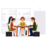 Work at office flat style Stock Image