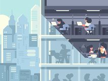 Work in office vector illustration