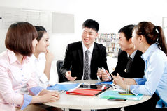 Work in the office to discuss Stock Photography