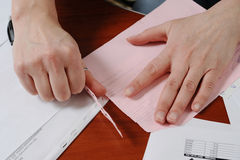 Work with official papers Stock Image