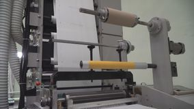Work of offset printing machine stock video