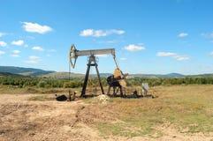 Work of oil pump Stock Photo