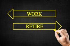 Free Work Or Retire Arrows Concept. Stock Photos - 191572133