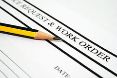 Work order royalty free stock images