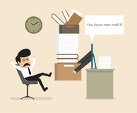 Work is ordered online Royalty Free Stock Images