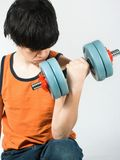 Work out. Teen working out Royalty Free Stock Image