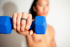 Work out with Dumbbell Royalty Free Stock Image