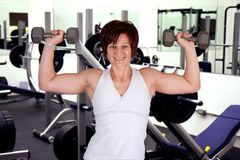 Work out woman Stock Image