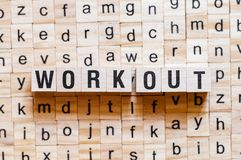 Work out word concept stock images