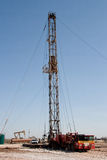 Work Over Rig, Pumpjack, and a Drilling Rig royalty free stock images