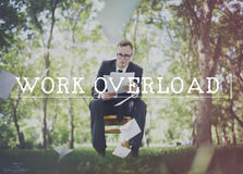 Work Overload Overtime Stress Management Concept Royalty Free Stock Images