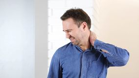 Work Overload, Tired Middle Aged Man Royalty Free Stock Images