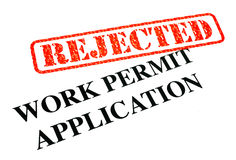 Work Permit Application REJECTED Royalty Free Stock Photography