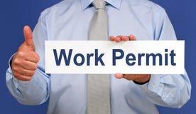 Work permit Royalty Free Stock Photos