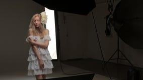 Work on photo studio stock footage