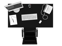 Work place. Place of work - top view Royalty Free Stock Photo