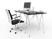 Work place. Place of work - right view Royalty Free Stock Images