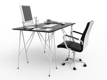 Work place. Place of work - left view Royalty Free Stock Photography