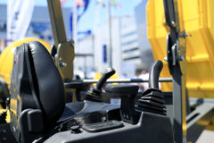 Work place in forklift Stock Images