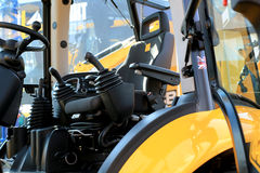 Work place in forklift Stock Photos