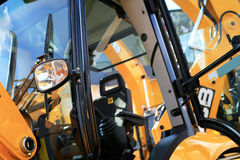 Work place in forklift Royalty Free Stock Images