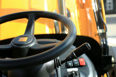Work place in forklift Royalty Free Stock Photo