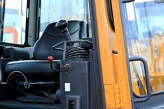 Work place in forklift Stock Photography