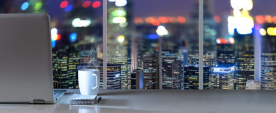 Work place with panoramic view Stock Image