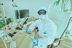 Work place of a scientist