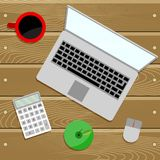 Work place table top Royalty Free Stock Image