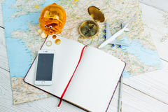 Work place travel agency. royalty free stock image