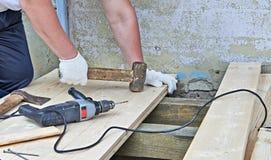 Work On Plank Floor Royalty Free Stock Photo