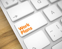Work Plans - Message on White Keyboard Keypad. 3D. Service Concept with Conceptual Enter White Button on Keyboard: Work Plans. Business Concept: Work Plans on Royalty Free Stock Photo