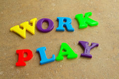Work and play Royalty Free Stock Photos