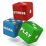 Work play stress Royalty Free Stock Images