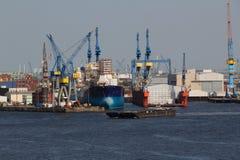 Work at the Port of Hamburg Stock Image