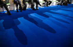 Work of press during UN Conference on Climate Change Stock Images
