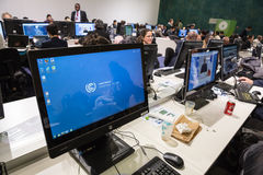 Work of press during UN Conference on Climate Change Stock Photography
