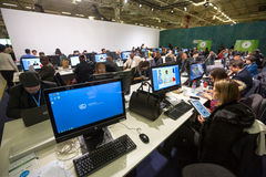 Work of press during UN Conference on Climate Change Stock Photos