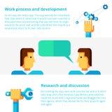 Work process flat vector illustration Stock Photo