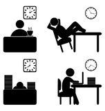 Work process icons Stock Photos