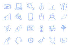 Work process icons set Stock Image