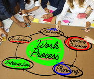 Work Process Plan Diagram Efficiency Concept Stock Photography
