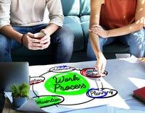 Work Process Plan Diagram Efficiency Concept Royalty Free Stock Photos