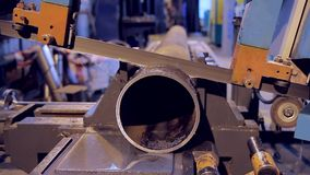 Work on the production of heating equipment factory stock video footage