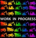 Work in progress stock illustration