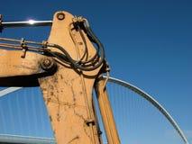Work in progress - Bridge and blue sky Stock Image