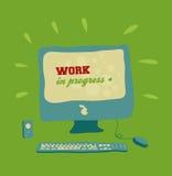 Computer work in progress Stock Photography