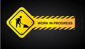 Work in progress. Over black background  vector illustration Royalty Free Stock Photography