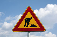 Work in progress. Road sign Royalty Free Stock Photos